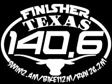 2018 any year TEXAS Ironman Triathlon Finisher Decal Sticker