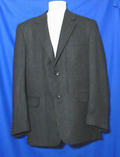 Joseph & Lyman Size 40 New L Charcoal Grey Herringbone Cashmere Blazer