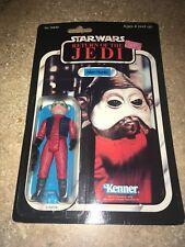 Vintage Nien Nunb Star Wars Return of the Jedi 65 Back ROTJ Action Figure Nice!