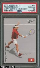 2003 Netpro Elite Tennis Event Edition Roger Federer Red Shirt PSA 10 GEM MINT