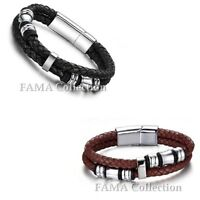 Solid FAMA 316L Stainless Steel 2Tone Bracelet with Gold IP Centre And Edges