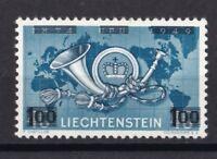 Liechtenstein 1950 postfrisch MiNr. 288  mit Bdr.-Aufdruck der neuen Wertstufe