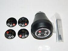 NEW NOS Black Leather Shift Knob 3 4 5 Speed Manual Transmission Multi Pattern