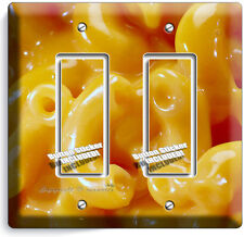 MACARONI AND CHEESE DOUBLE GFI LIGHT SWITCH WALL PLATE DINING ROOM KITCHEN DECOR