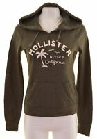 HOLLISTER Womens Hoodie Jumper Size 10 Small Green Cotton  MW26
