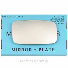 For Volvo 940 1991-1998 Right Driver side Flat wing mirror glass +plate