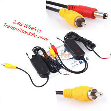 2.4G Wireless AV Cable Video Transmitter and Receiver For Car Rear View Camera