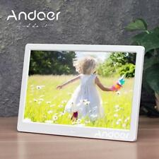 "Andoer 13"" TFT LED Digitaler Bilderrahmen MP3 MP4 Movie Video Player Wecker DE"
