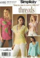 Simplicity Misses Pullover Bias Tunics or Tops #4180 Size 8-16 New Uncut