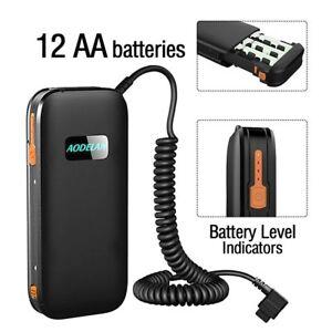 AODELAN External Hot-Shoe Flash Battery Pack Speedlite Battery Power Bank