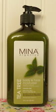 MINA ORGANICS TEA TREE BODY & FACE MOISTURIZER LOTION 18 OZ.