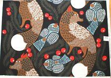Marimekko fabric, Ketunmarja navy 145x99cm by Aino-Maija Metsola