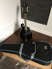 "NEW LEMARQUIS MF-2000 MIDNIGHT BLACK ""F"" STYLE  MANDOLIN WITH DELUXE GK CASE"