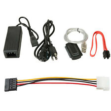 New USB TO IDE SATA S-SATA Converter CABLE Adaptor with POWER Supply