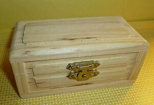 Unfinished Wood Dollhouse Trunk/Chest, Ready to Sand and Decorate