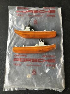 Porsche Boxster Side Marker Lights (Amber) Right & Left Genuine Stock 2003 Used