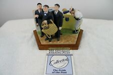 Bottom Of The Sixth Figurine The Saturday Evening Post By Norman Rockwell'S Coa