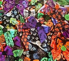 HALLOWEEN DOG COLLAR BOWS ASSORTED MIX PACK bandannas groomers grooming