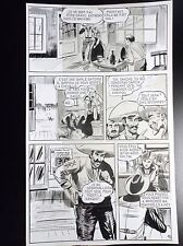 Superbe Planche originale Un bon tireur 10 Bill Tornade N° 6