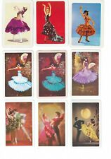 VINTAGE SPANISH DANCERS #2  (9)  swap/playing cards