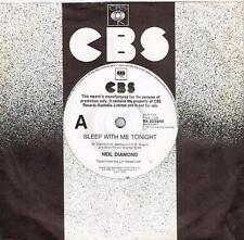 """NEIL DIAMOND - SLEEP WITH ME TONIGHT - RARE 7"""" 45 PROMO VINYL RECORD - 1984"""