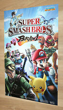 Super Smash Bros. Brawl Nintendo / Sega Dinosaur King rare small Poster 42x28cm