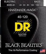 DR Strings BKB5-40 BLACK BEAUTIES Coated Bass Guitar Strings - Light - 5-String