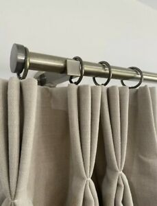 John Lewis 25mm Antique Brass Curtain Pole With Stud Finials 3m Length RRP £125