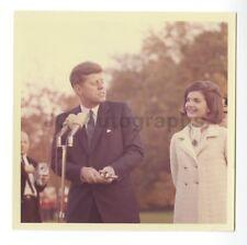 John F. Kennedy & Jackie Kennedy - Vintage 1963 Photo Watching Black Watch Band