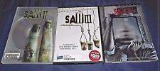 LOT OF 3 SAW HORROR DVD'S SAW II, SAW III, SAW V