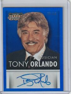 2015 PANINI AMERICANA TONY ORLANDO BLUE FOIL AUTOGRAPH 26/49