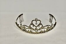 Women's Rhinestone Full Size Tiara with Hair Comb Sides