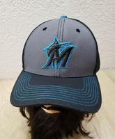 EUC - Miami Marlins Strapback Hat MLB OC Sports Baseball Raised Embroidery