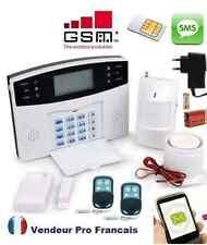 Kit Alarme Maison Sans Fil GSM SMS Auto Appel Anti Vol 1-> 99 Zones De Détection