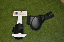FETLOCK BOOTS NEW EQUINE WEAR QUALITY BOOTS BLACK THICK FLEECE LINED MEDIUM