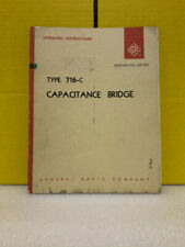 General Radio Type 716 C Capacitance Bridge Operating Instructions