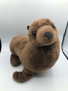 Wild Republic Cuddlekins Sea Lion Seal Brown Plush Kids Stuffed Toy Animal Doll