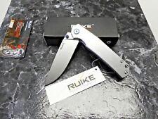 Couteau RUIKE P801 Lame Acier 14C28N Manche Acier Framelock RKEP801SF