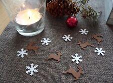 Streudeko Weihnachten Rentiere Schneeflocken Tischdeko Weihnachtsdeko basteln