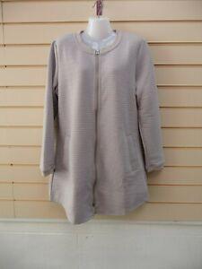 Sheego Women's Cardigan Jacket Size 16 Light Grey Textured BNWT  G011