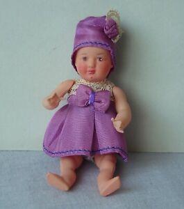 ancien poupon poupée PETITCOLLIN CELLULOÏD Bébé Viollette Vintage DOLL