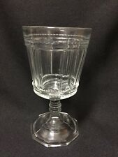 EAPG Clear Glass Art Deco Column Style Pattern Water Wine Goblet Spooner