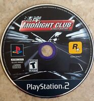 Midnight Club Street Racing Disc Only PlayStation 2 PS2 Black label