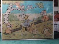 Walt Disney Donald Duck Rug, Framed, Alexander Smith and Sons