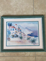 Print of Watercolor Painting by Terry Madden Artwork Reproduction Seaside Framed