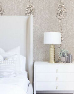 ANTHROPOLOGIE SHAGREEN WALLPAPER ROLL TRUELY TAUPE