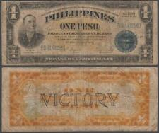 Philippines - WWII Victory Note, 1 Peso, ND (1944), F++, P-94