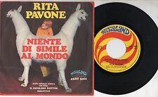 RITA PAVONE disco 45 STAMPA ITALIANA  Parlare con gli animali + Niente di simile