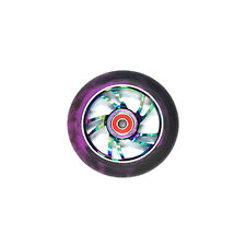 Scooter Wheel Alloy 100mm with Abec 9 Bearing Metal Heat Oilslick Razor Style