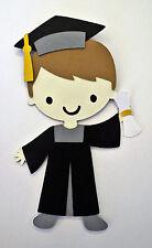 Graduation Graduate Grad Boy Paper Doll Die Cut Scrapbook Embellishement